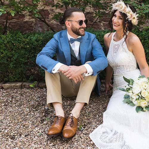 Hochzeitsanzug nach Maß im Boho Style