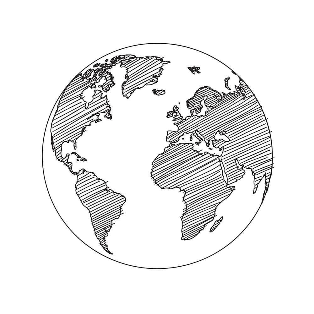 Fertigung-Weltkugel